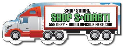 Magnet - Semi Truck Shape 5x1.7-1170