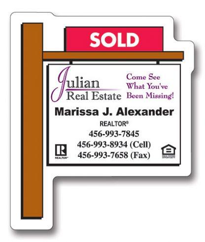 Magnet - Real Estate Sold Sign Shape 2.25x2.75-161
