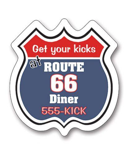 Magnet - Road Sign Shape 2.9375x2.5-165
