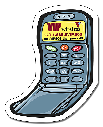 Cell Phone Shape Magnet - 2.5x3.125-0