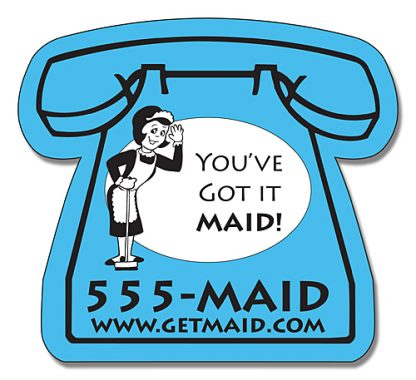 Delivery Magnet - Small Telephone Shape 2.625x2.375-239