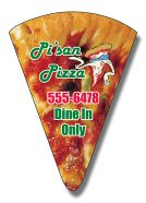 Magnet - Pizza Slice Shape 1.875x2.625-0