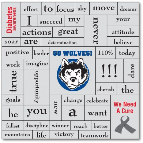 School and Sports Word Magnet - 5.5x5.5-185