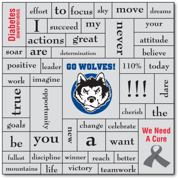 School and Sports Word Magnet - 5.5x5.5-0