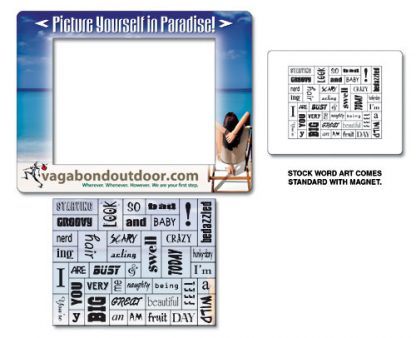 Word Magnet - 6.5x5 with Picture Frame Magnet-186