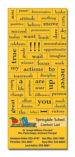 School Magna-Phrase Magnet - 3.5X8.25 with Business Card Magnet-0