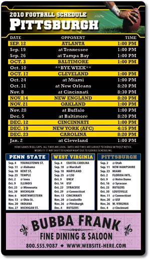 Magnet Sport Schedule - 4x7 Football Round Corners-0