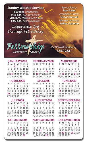 Religious Calendar Magnet - 3.5x6 Round Corners-264