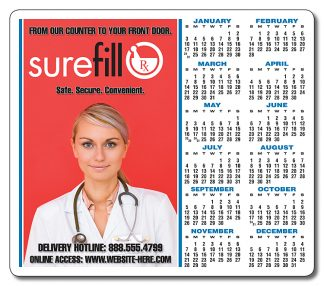 Pharmacy Calendar One Day Ship Magnets - 3.5x4 Round Corner-0