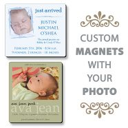 Baby Birth Announcement Magnet - 3.5x4 Round Corners-0