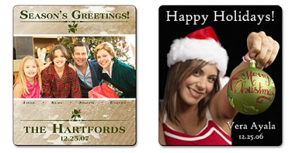 Holiday Announcement Magnet - 3.5x4 Round Corners-335