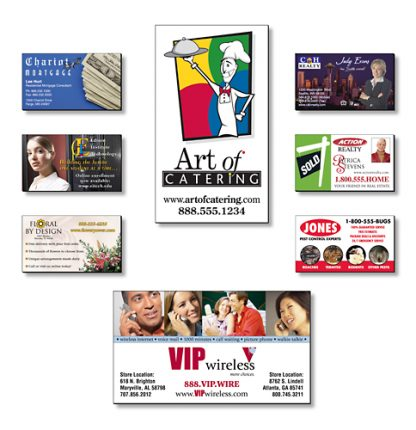 Business Card Magnets - 3.5x2 Square Corners 25 Mil-188