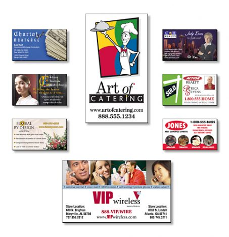 Business Card Magnets - 3.5x2 Square Corners 25 Mil-0