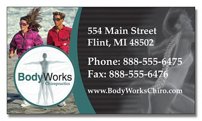 Health Magnet - 3.5x2 Business Card-281