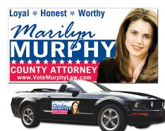 Political Magnetic Car Signs - 24x12 Round Corners-0