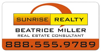 Real Estate Magnetic Car Signs - 24x12 Round Corners-287