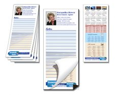 Note Pad with Magnetic Backer - Custom 25-Sheet 3.5x8-0