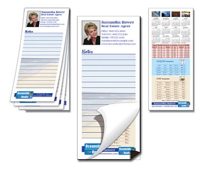 Note Pad with Magnetic Backer - Custom 25-Sheet 3.5x8-1480