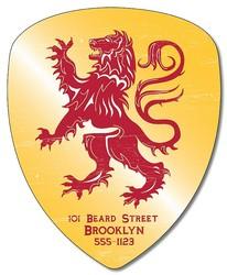 Badge / Crest / Shield Shape Magnet - 4x4.9-1745