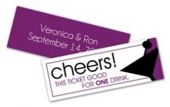 Wedding Drink Tickets - 2.75x1 Extra-Thick UV-Coated 1S-0