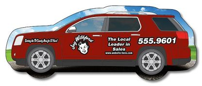 Crossover SUV Shape Magnet - 4.3125x1.6875-1747