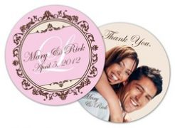 Paperboard Wedding Coaster (Round) - 3.75-0