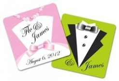 Paperboard Wedding Coaster (Square) - 3.75x3.75-0