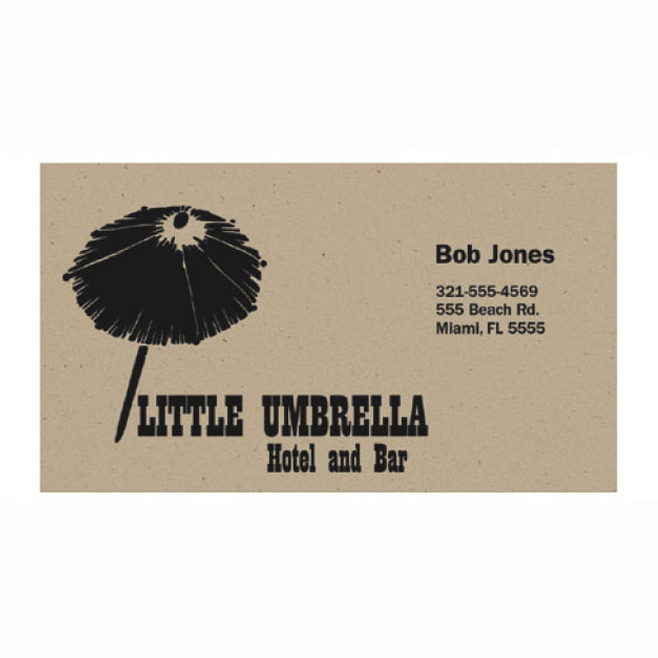 Recycled Paper Business Card Magnet 325x175 Square Corners