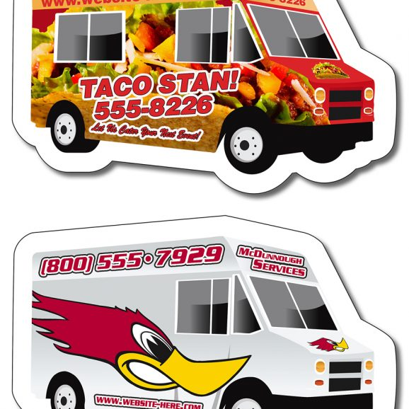Magnet - Food Truck / Delivery Truck Shape 4x2.6-0